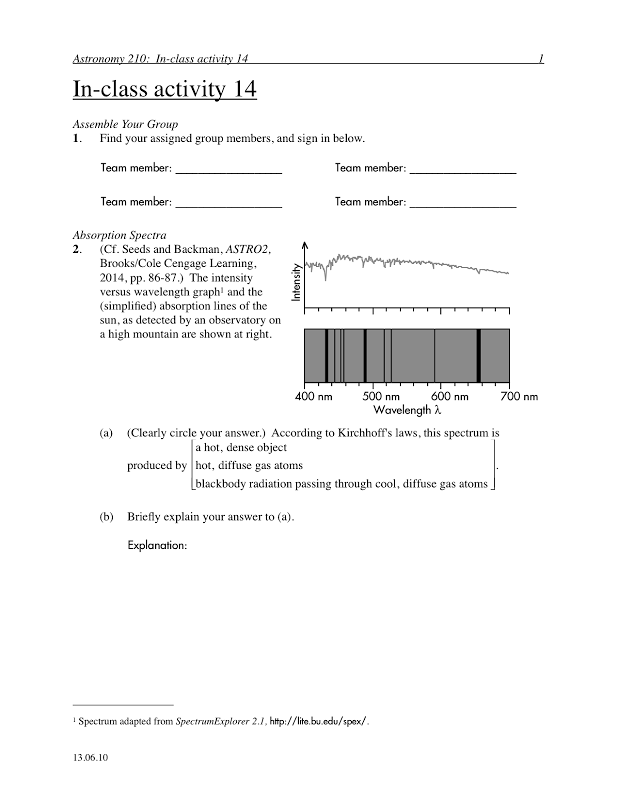 doppler effect worksheets | ... spectrum types and Kirchhoff's ...