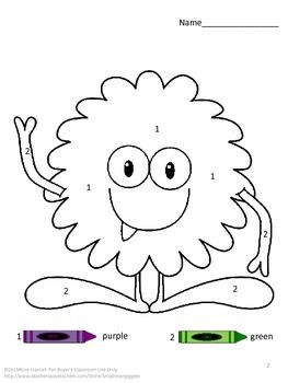 Monsters Theme Color By Number Special Education Math Distance Learning Packets Special Education Math Special Education Coloring Pages