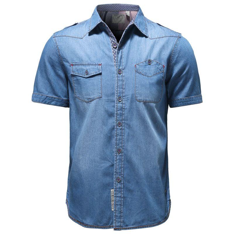 eshion Mens Casual Dress Shirt Long Sleeve Solid Color Button Down Shirts