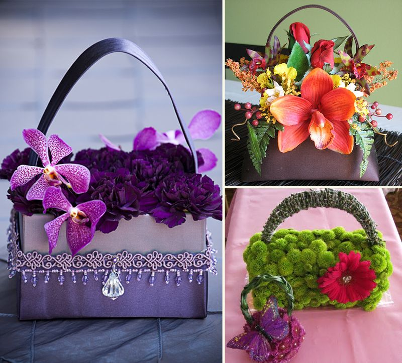 images about Flower Purses Purses, Bridesmaid