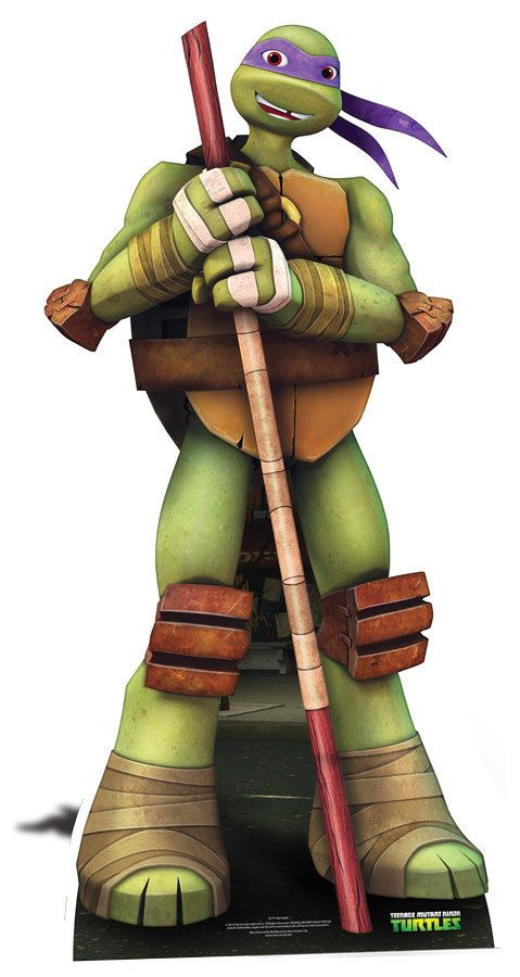 Donatello teenage mutant ninja turtles lifesize cardboard cutout standee standup nickelodeon series