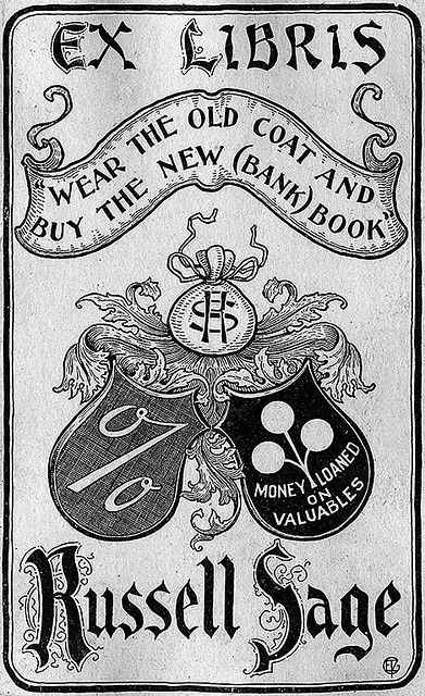 Bookplate of Russel Sage in 2019 Bookplates  Bookmarks