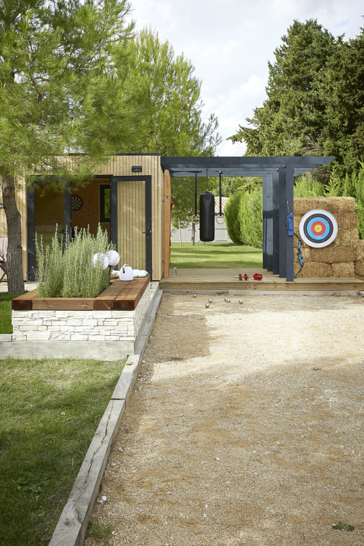Dimension Terrain De Petanque Maison une salle de sport extérieure 3 en 1 en 2020 | salle de