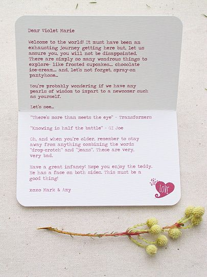 Letter To Baby I Think I Will Ask All Of My Family And Friends To