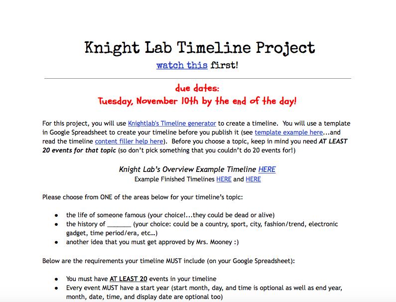 knight lab timeline project http cdn knightlab com libs timeline3 latest embed index html source 1z8 generator google spreadsheet