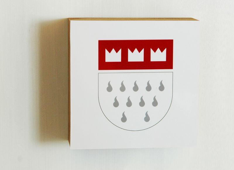 motiv mini, kölner wappen, 10x10, stylisch von mucart auf