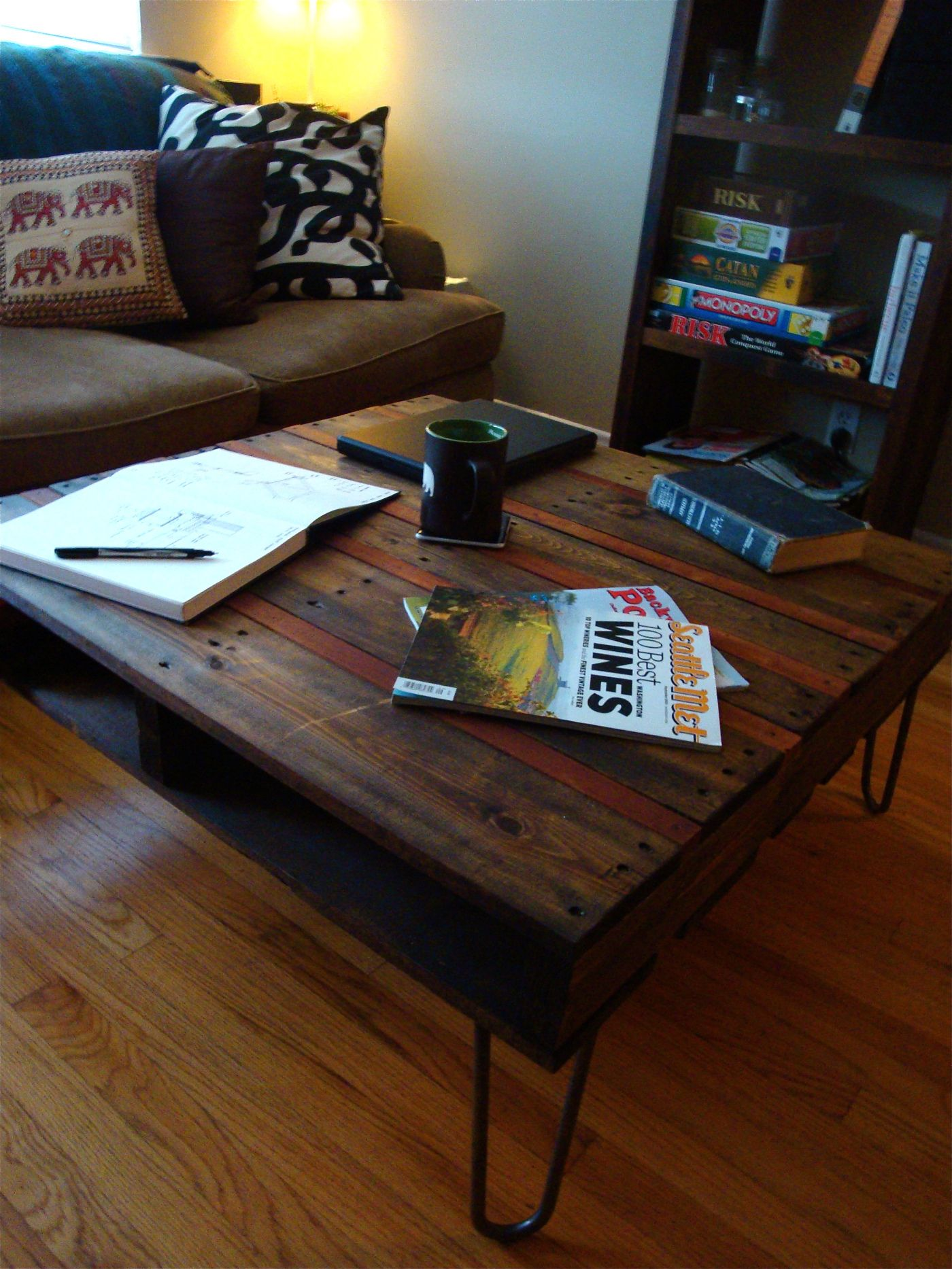 Reclaimed Pallet and Piano Coffee Table