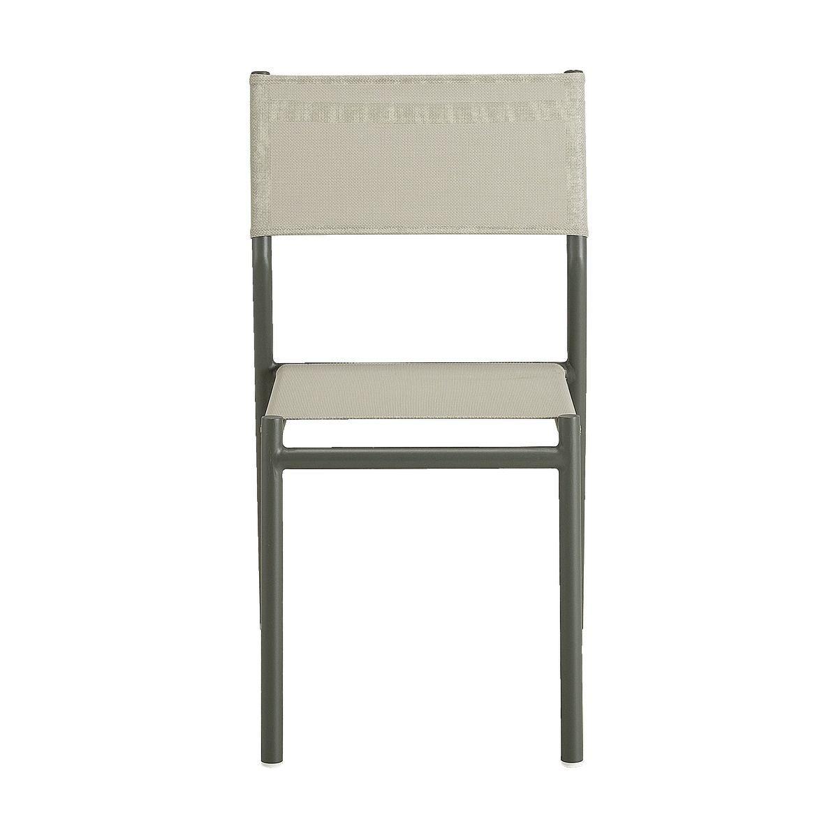 Chaise De Jardin En Aluminium Et Textilene Vert Olivier Sausset Chaises De Jardin Chais In 2020 Outdoor Chairs Folding Chair Furniture