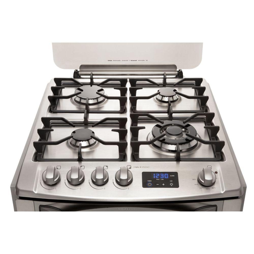 O Fog O Celebrate Premium Embutir 4 Queimadores Possui Grades De  ~ Banqueta Inox Para Cozinha Acozinha Com Cooktop Branco