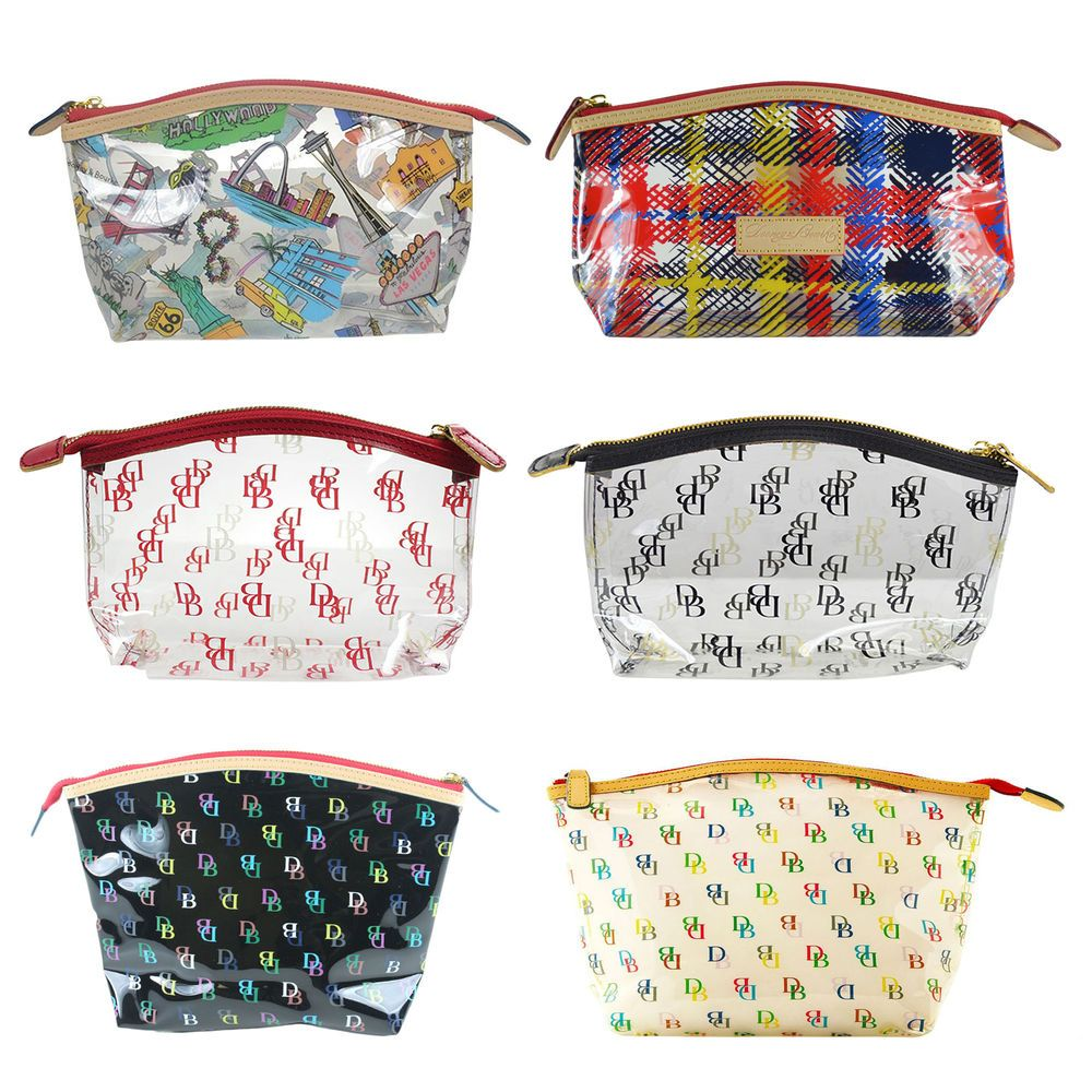 Details about NWT Dooney Bourke Clear Logo Cosmetic Case