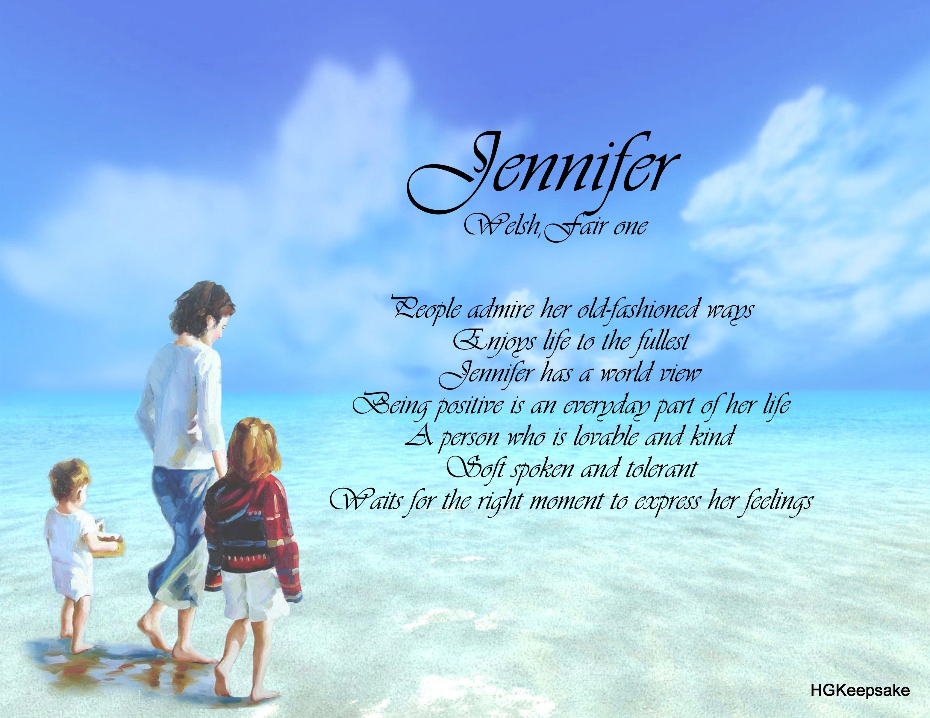 Jennifer Name Keepsake Print | First Name, Scripture