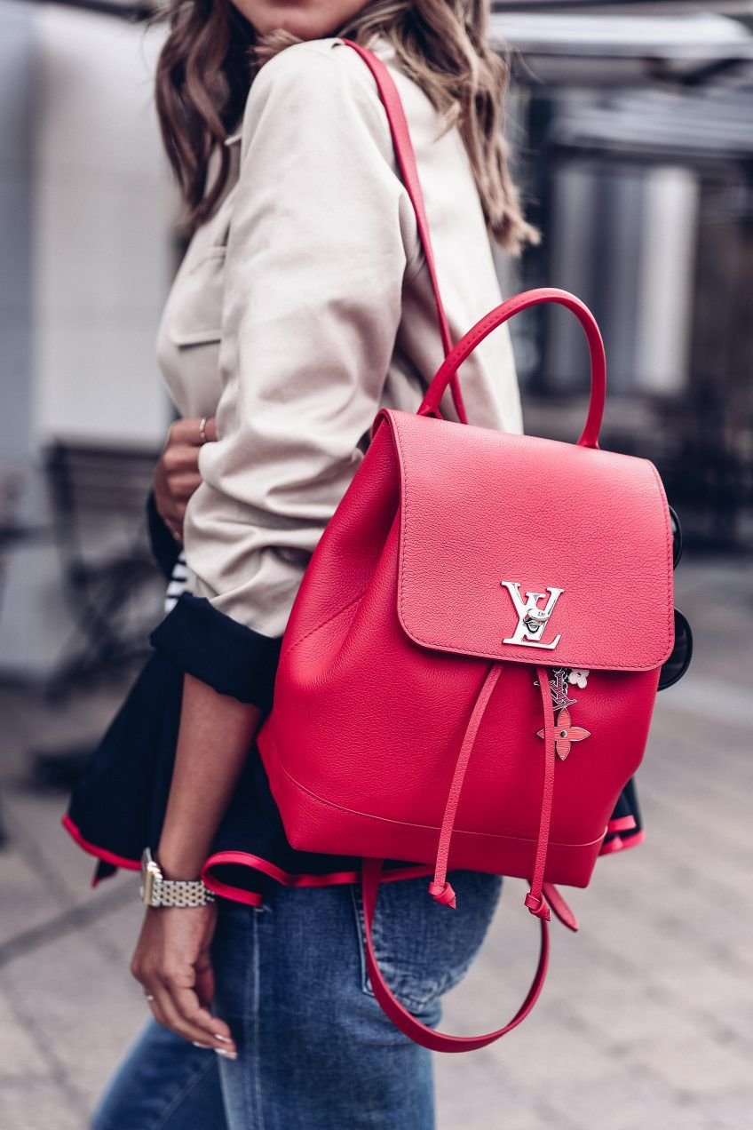b0606f803d91 Louis Vuttin lockme backpack in red