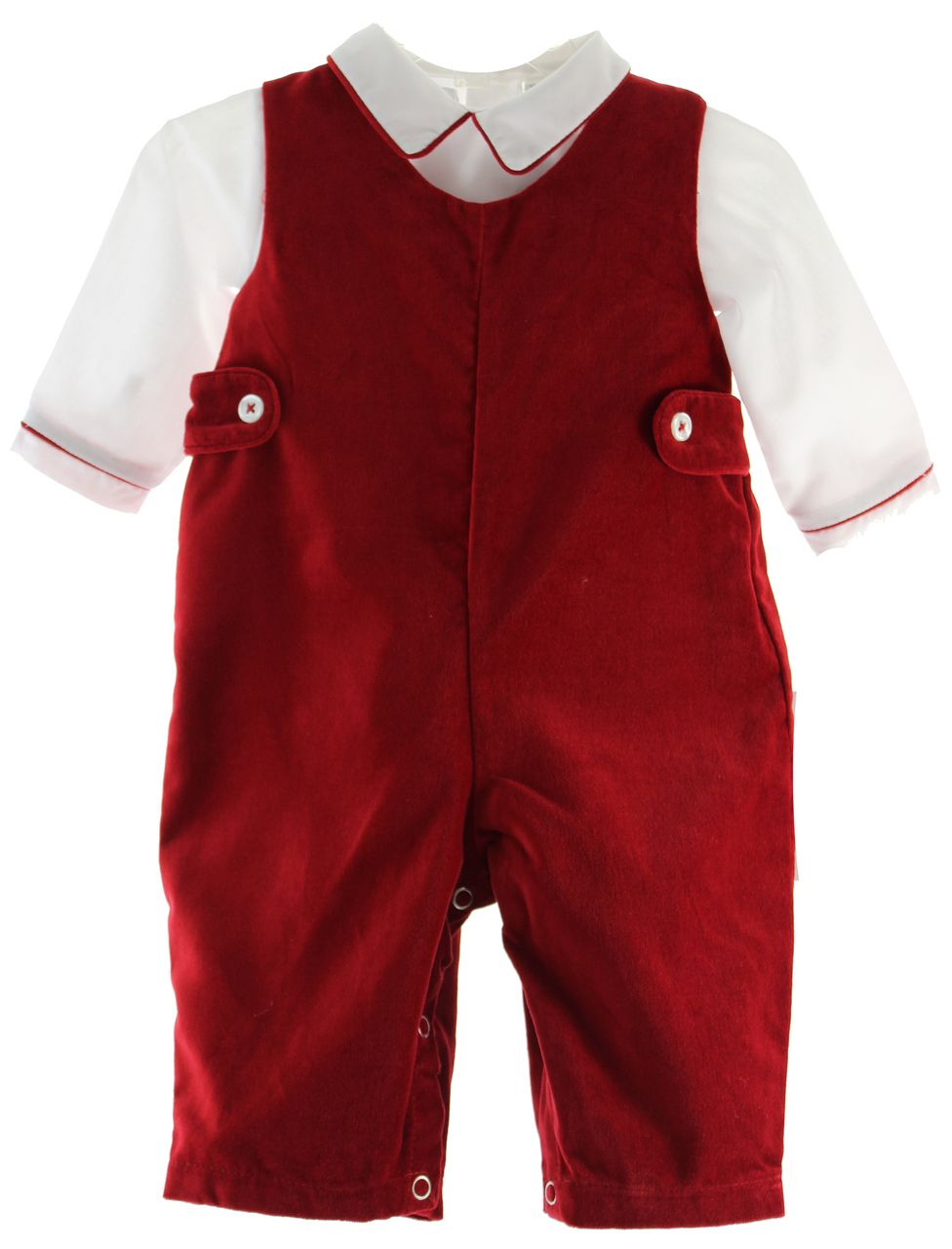 f8a5a99b3 Hiccups Childrens Boutique - Infant Boys Red Velvet Christmas Outfit  Carriage Boutique, $50.00…