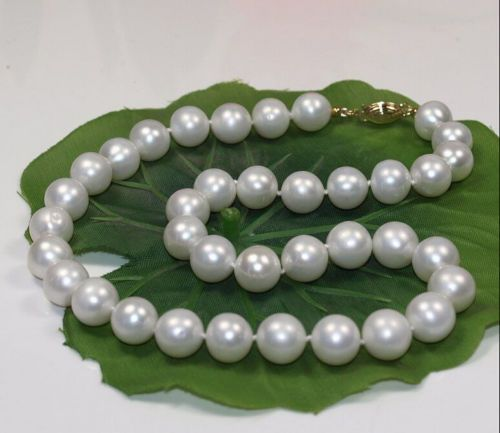 Huge 12mm Genuine Golden South Sea Shell Pearl Round Beads Necklace 18/'/' AAA