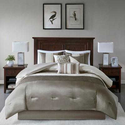 Salem 7 Piece Comforter Set Natural California King King Comforter Sets Comforter Sets Full Comforter Sets