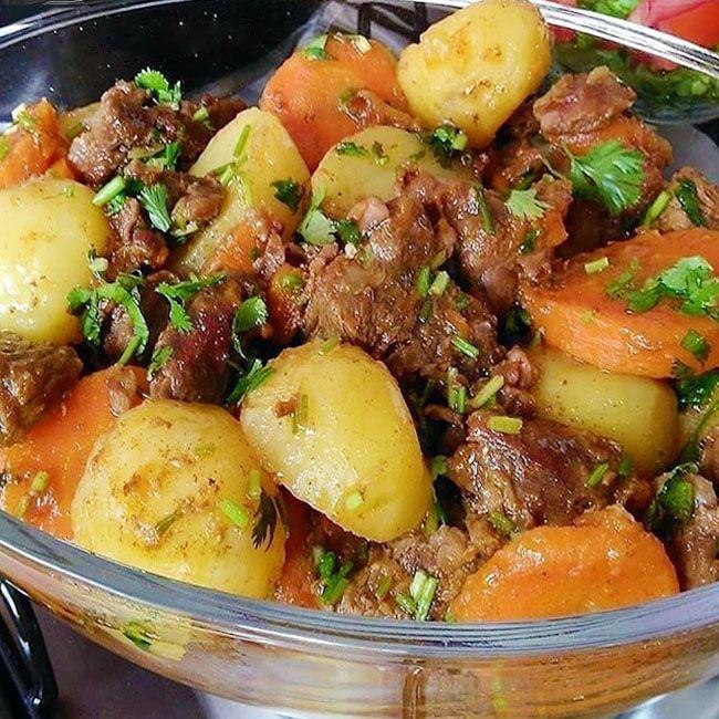 Como Fazer Carne De Panela Com Batata E Cenoura Simples A Receita