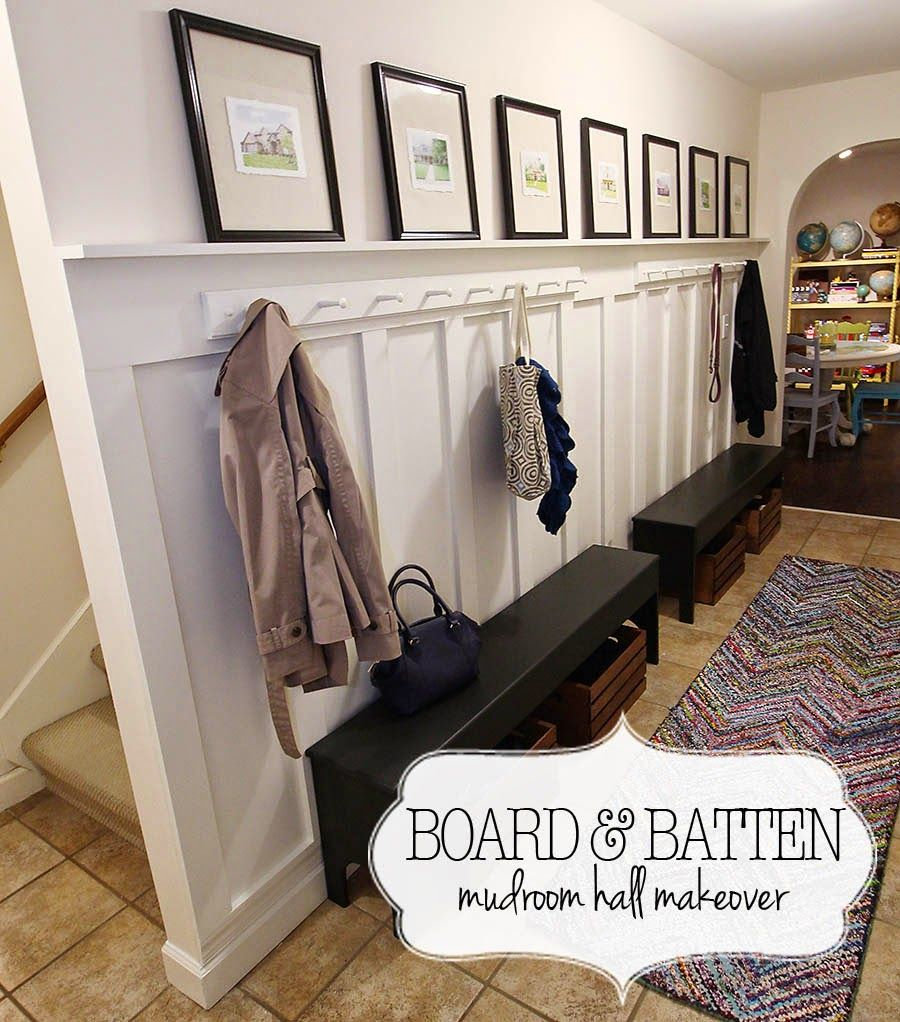 board and batten is the simplest answer to add charm and interest to a basic wall