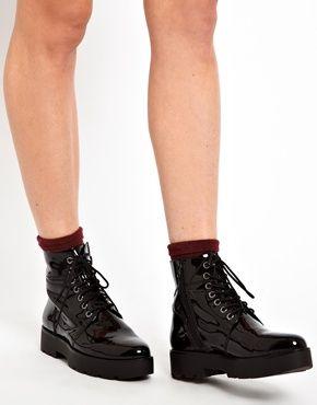 Image 3 of Vagabond Aurora Platform Lace Up Ankle Boots