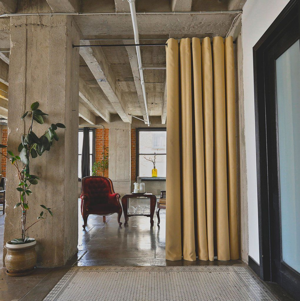 Dusty Gold Premium Heavyweight Room Divider Curtain