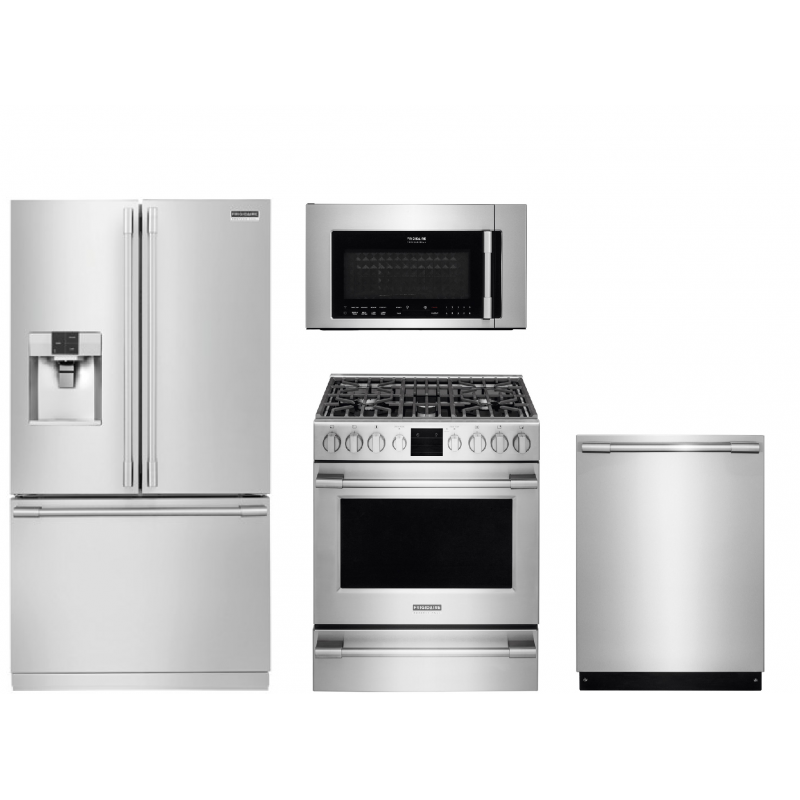 Frigidaire Professional Fpbc2277rf 22 6 Cu Ft Counter Depth Refrigerator Fpbm3077rf 30 In Over The Range Microwave Fpgh3077rf 30 In Freestanding Gas Range Over The Range Microwaves Range Microwave Kitchen Appliance Packages