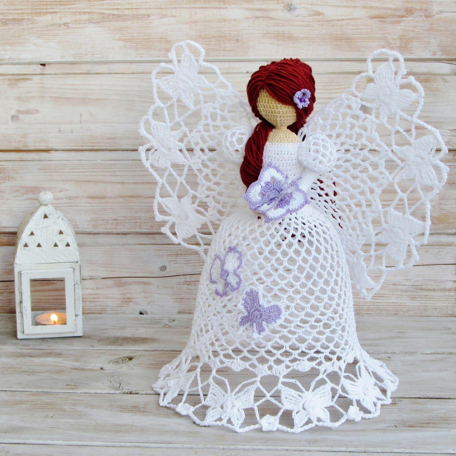 Cómo tejer ángeles crochet | mariposa sonajer | Pinterest | Croché ...