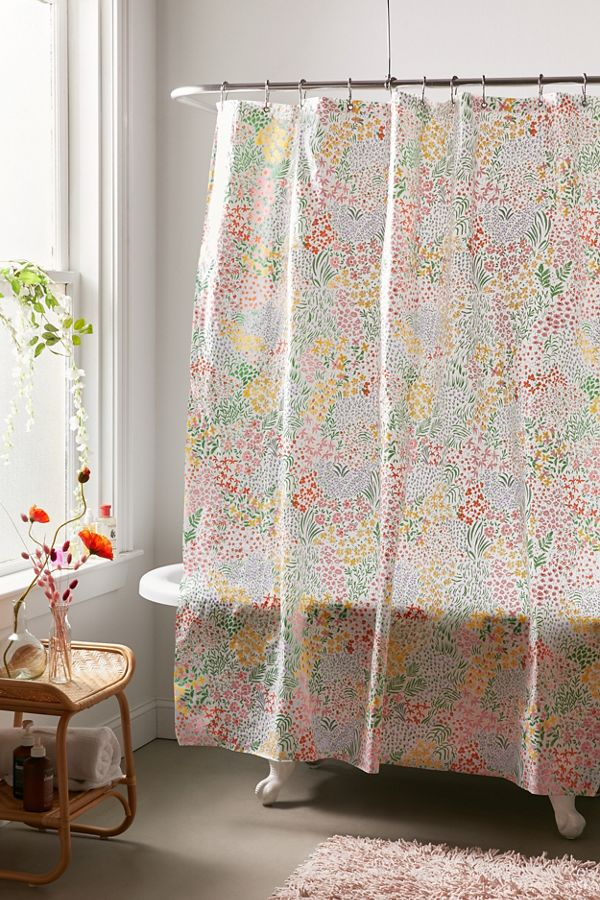 Meadow Floral Peva Shower Curtain Floral Shower Curtains