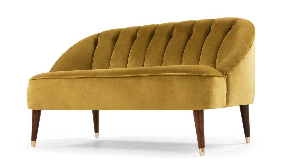 Margot 2 Seater Sofa Antique Gold Velvet Made Com 2 Seater Sofa Gold Sofa Seater Sofa