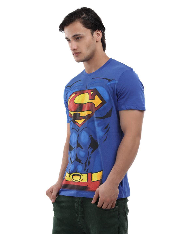 Design your t shirt myntra - Superman Men Royal Blue Graphic Printed T Shirt Myntra