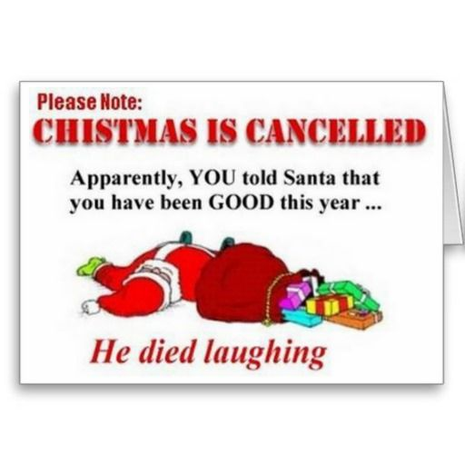 Funny Christmas Is Canceled Card Zazzle Com Christmas Quotes Funny Funny Christmas Jokes Christmas Humor