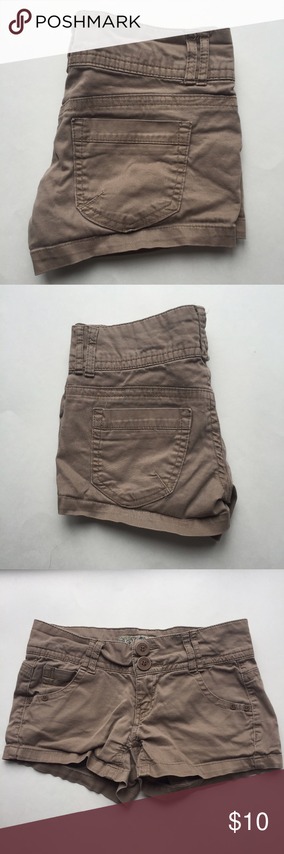 Khaki Jolt Shorts Size 3 Worn, but still in good condition with a lot of wear left in them. These run on the smaller side as Jolt is a juniors style brand. All sales final. Jolt Shorts