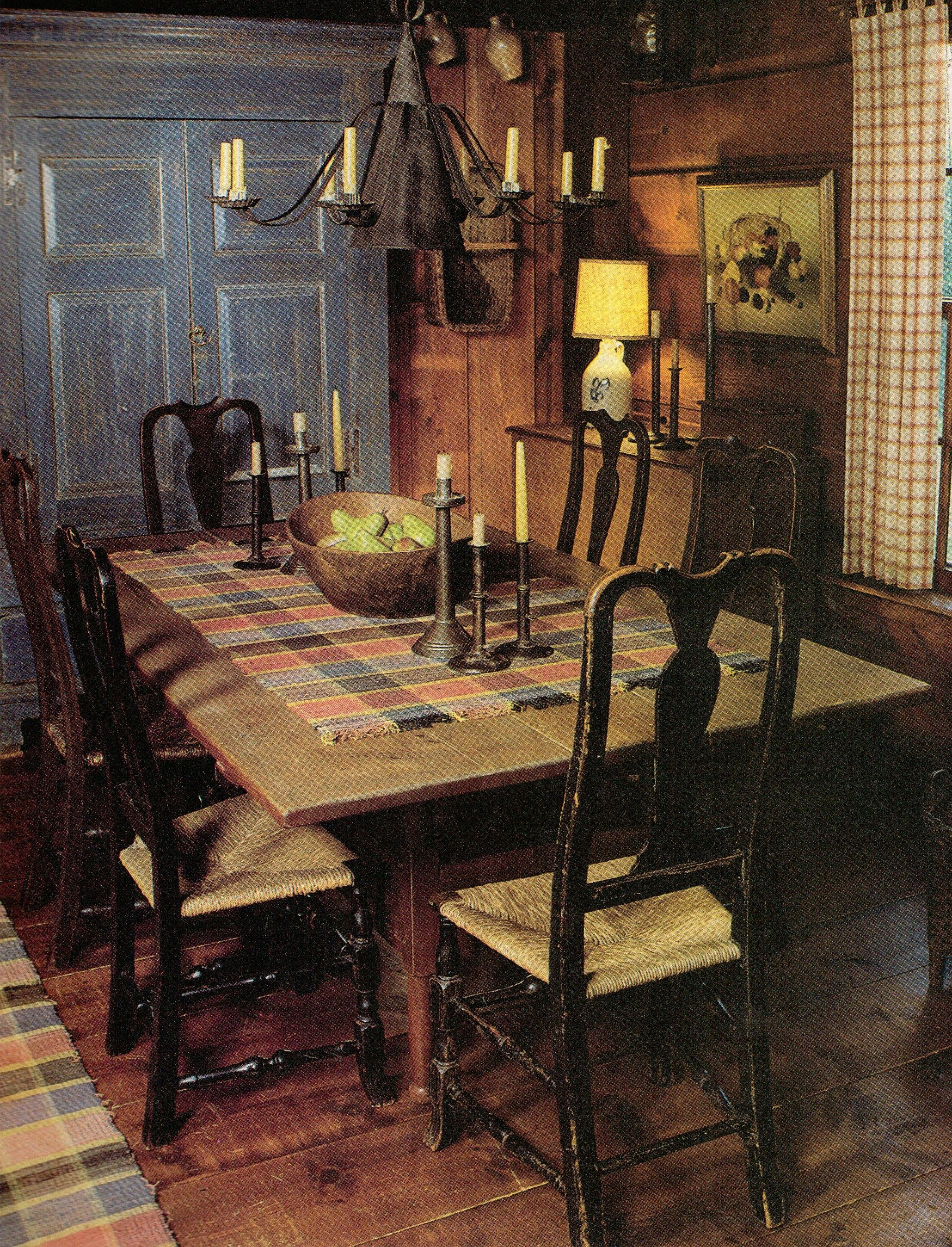 Who Would Have Thought To Put A Rug On A Table  Primitive Fascinating Primitive Dining Room Sets Decorating Design