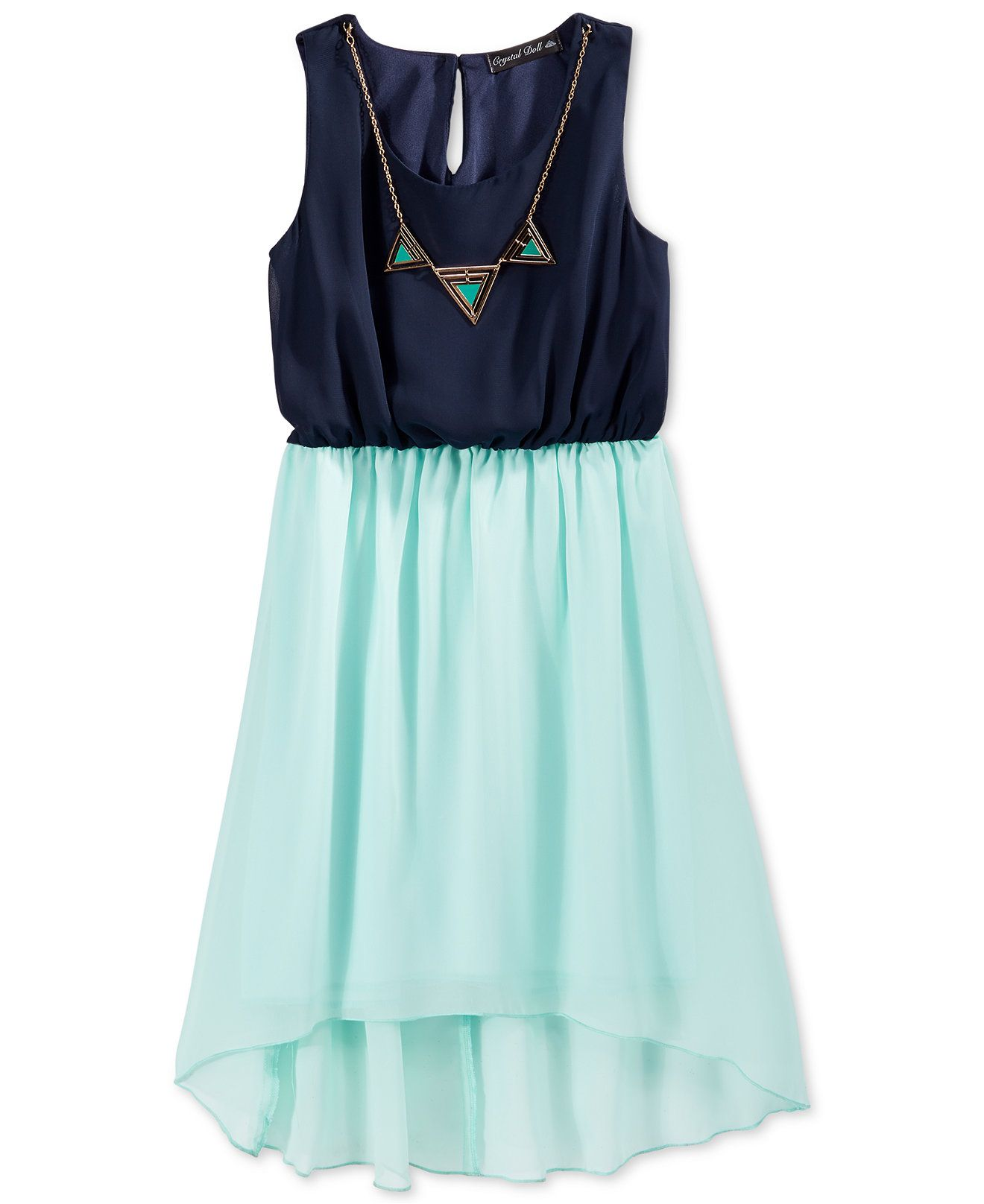 2118ae8cc Crystal Doll Girls' Chiffon High-Low Dress with Necklace - Sale & Clearance  - Kids & Baby - Macy's