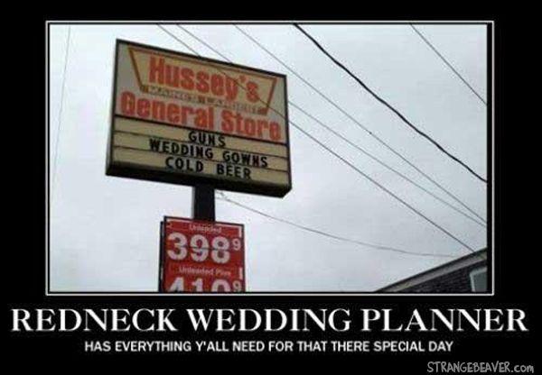 Redneck Wedding Planner