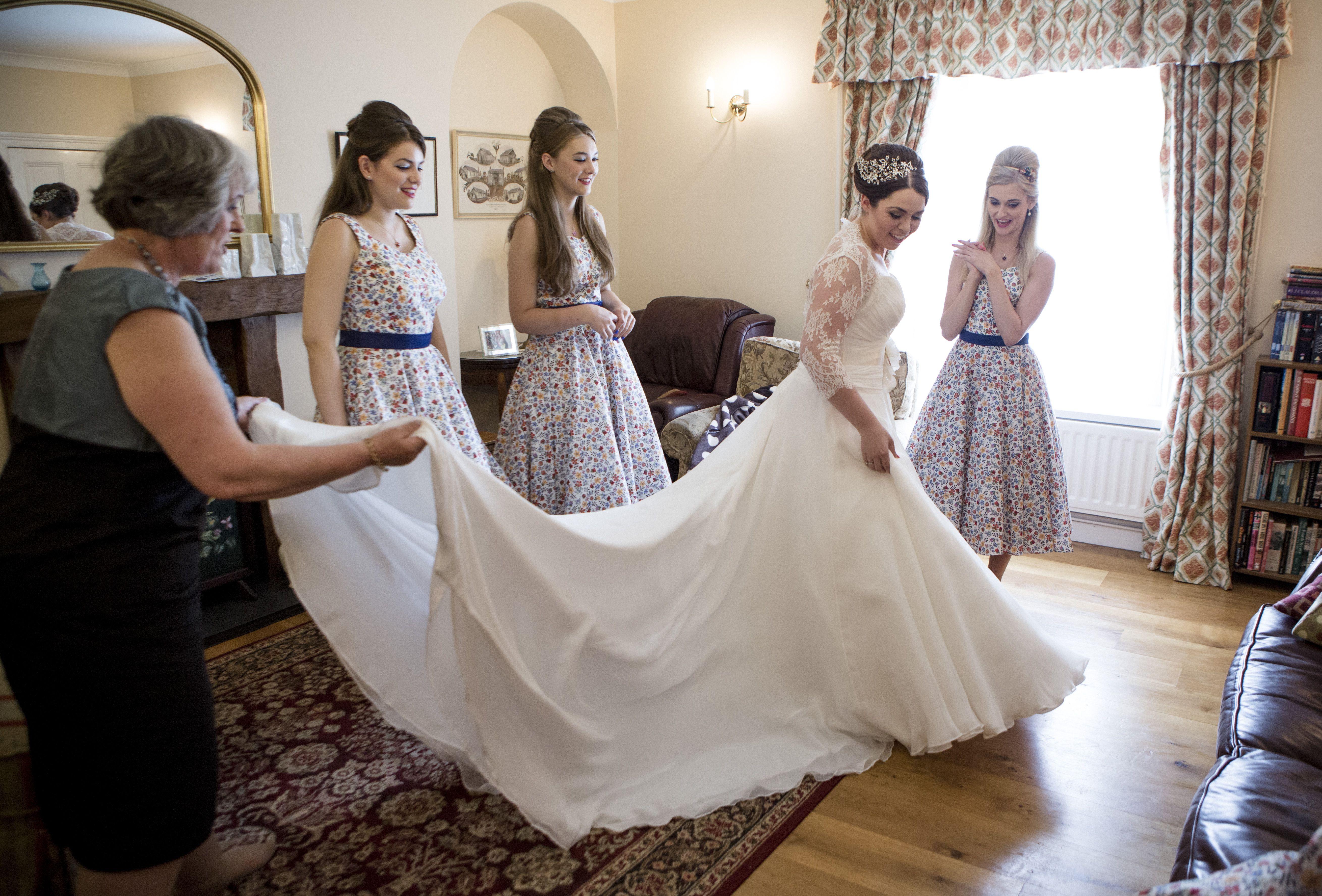 Beautiful bridesmaids #sewliberty