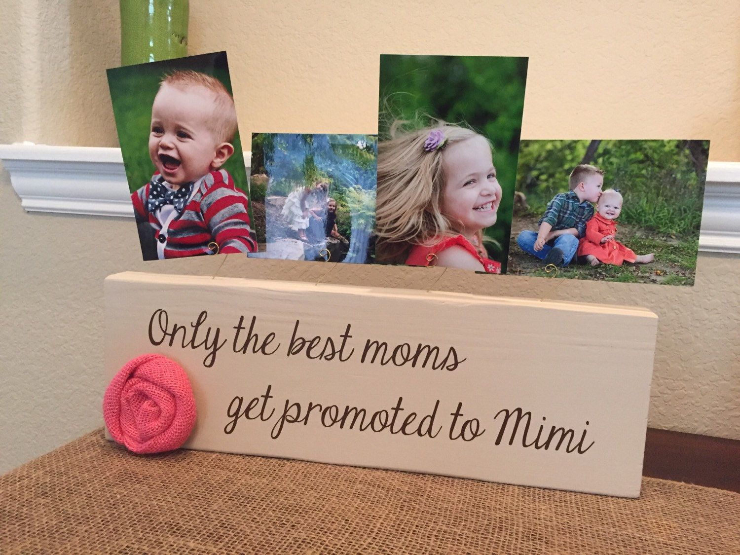 Pregnancy reveal to mom! Personalized picture frame only the best ...