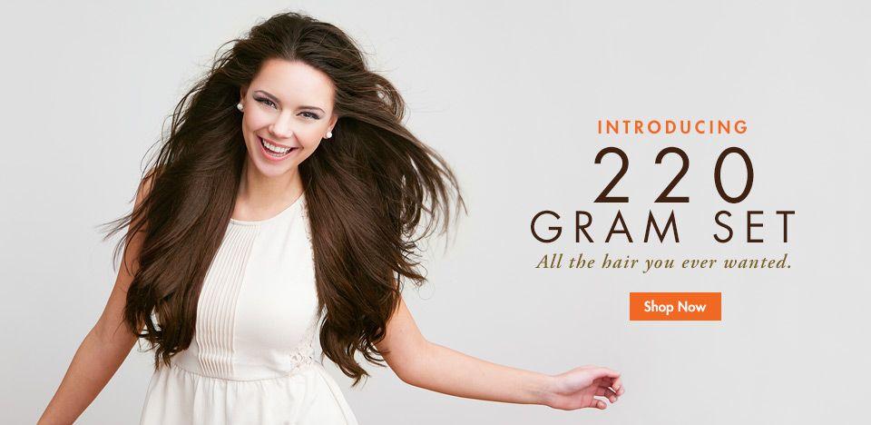 Clip In Hair Extensions By Luxy Hair 220 Gram Set Hair