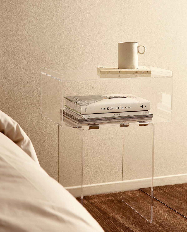 Image 6 Du Produit Table De Chevet En Methacrylate Table De Chevet Mobilier De Salon Mobilier Acrylique