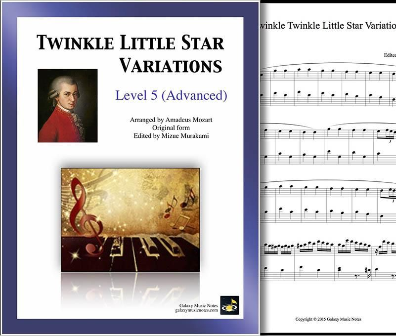 Twinkle Little Star 6 Variations By Mozart Level 5 Piano Sheet
