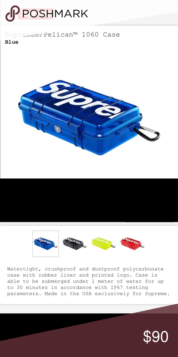 Supreme Pelican 1060 Case Blue Sold Nwt Pelican Case Supreme Accessories Case