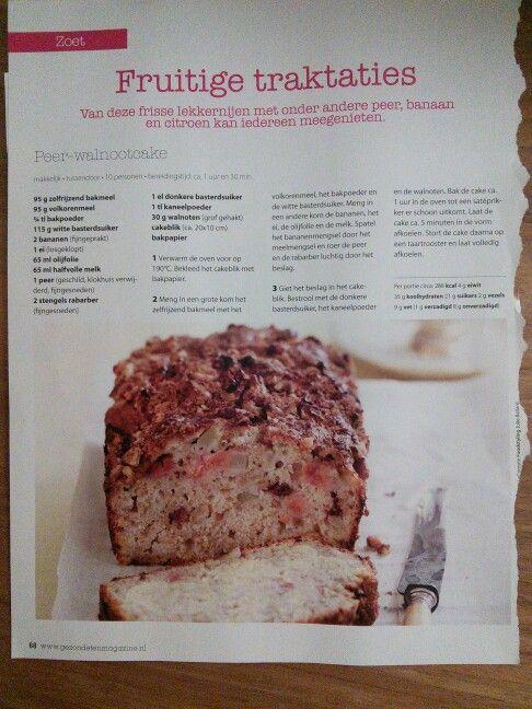 Peer walnoot cake
