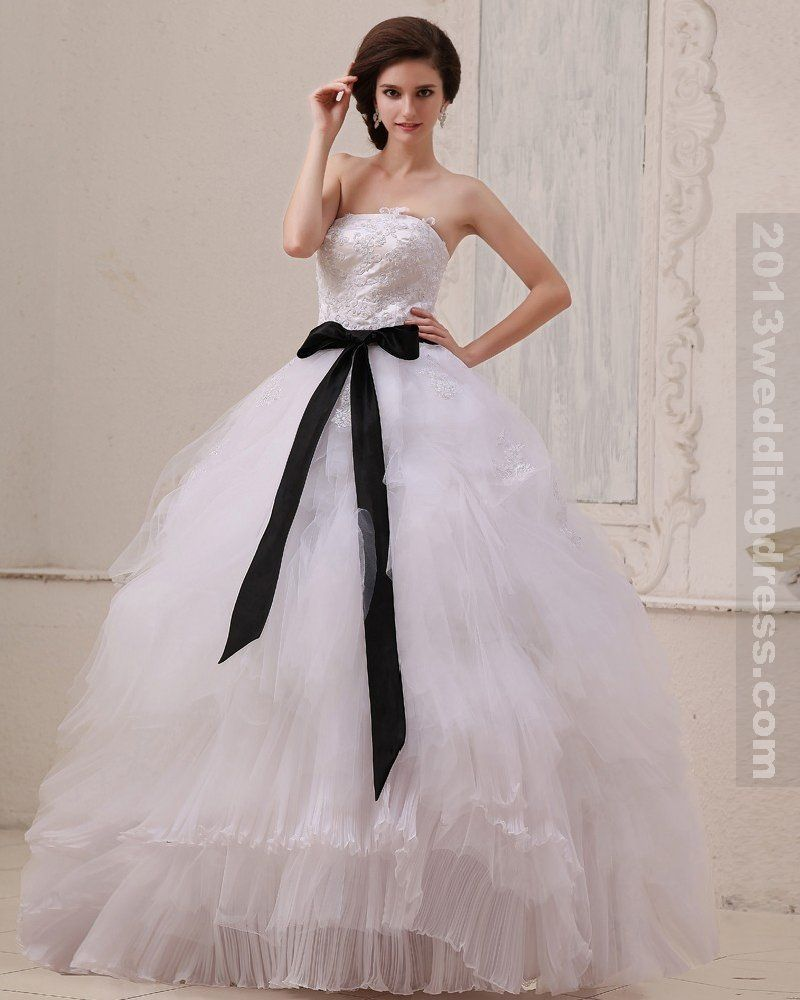 Piso sin mangas de la plaza longitud Permanente plisado de gasa vestido de bola del vestido de boda