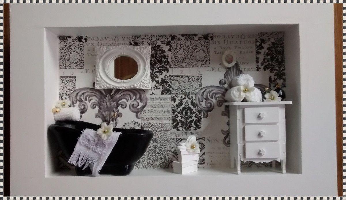 Artesanato Pernambuco ~ Quadro cenário banheiro, confeccionado em mdf, pintura