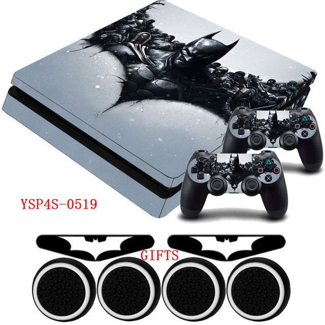 Batman arkham knight ps4 slim vinyl skin anti slip protective decal sticker gifts for