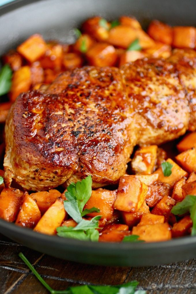 Sriracha roasted pork with sweet potatoes recipe for How to make delicious sweet potatoes