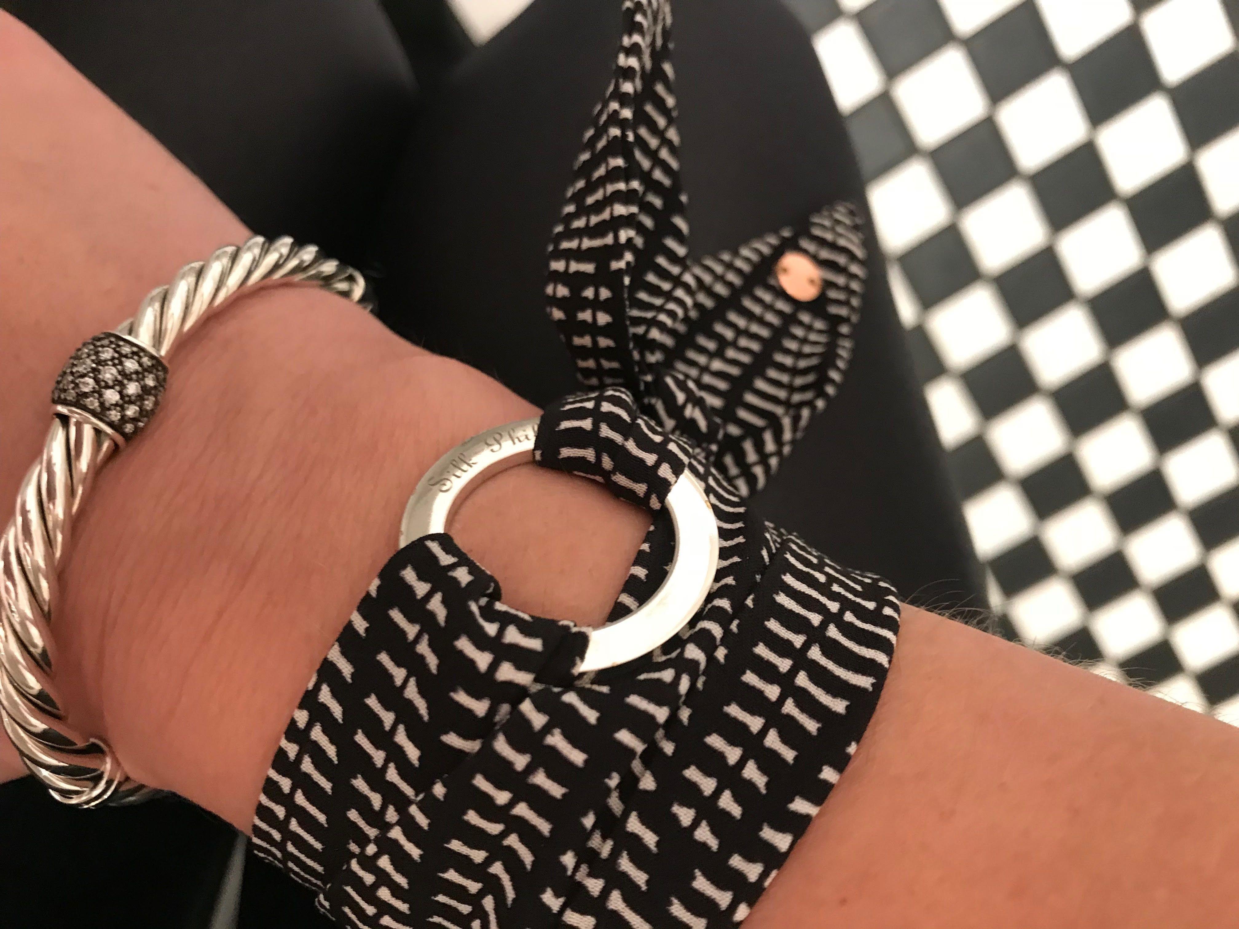 Paige Silk Bracelet Silk Bracelet Silk Accessories Handbag Charms