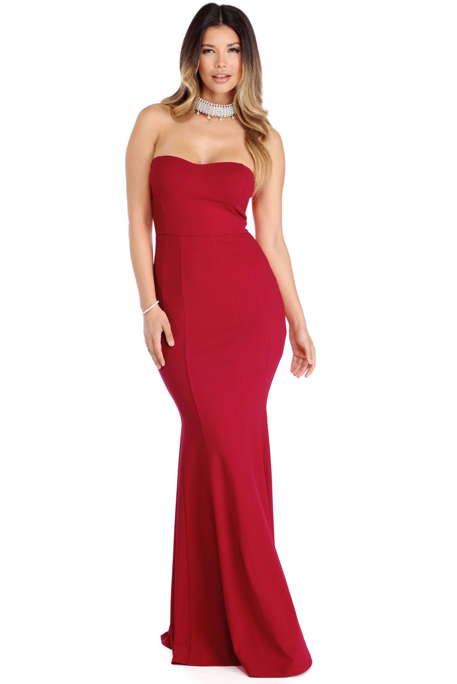 Samantha Red Strapless Mermaid Gown | Formal | Pinterest | Mermaid ...