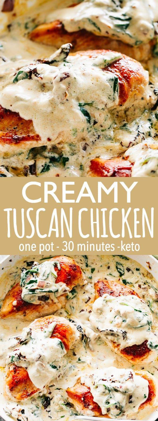 Creamy Tuscan Chicken | Easy Chicken Breasts Recipe & Dinner Idea