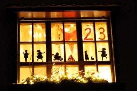 Vorlage Foto Adventfenster Weihnacht Fenster Adventsfenster