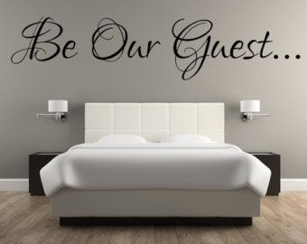 Check Out Be Our Guest Decal Guest Room Decal Wall Decals Guest - Custom vinyl decals wall
