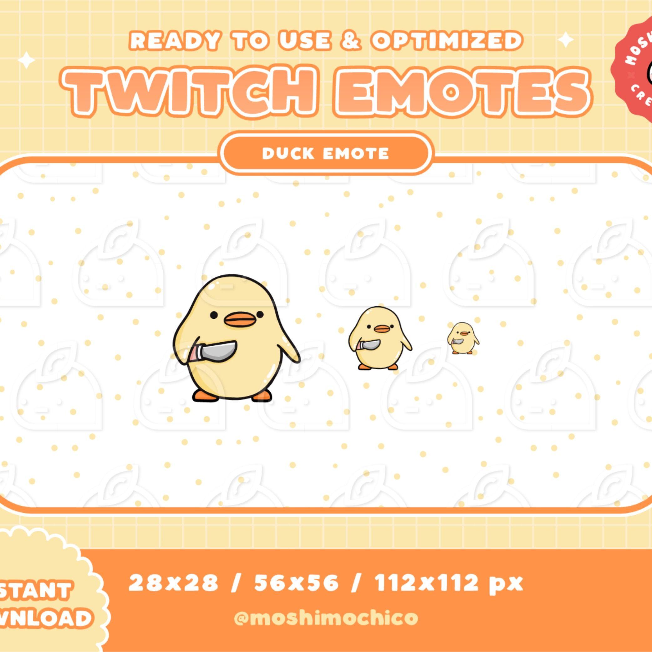 1x twitch emote yellow meme duck emoji streamer pun